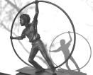 """L'acrobate"" Bronze 70 x 70 x 20 cm"