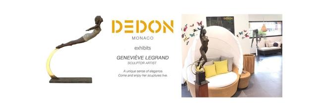 geneviève legrand sculpteur chez DEDON MONACO